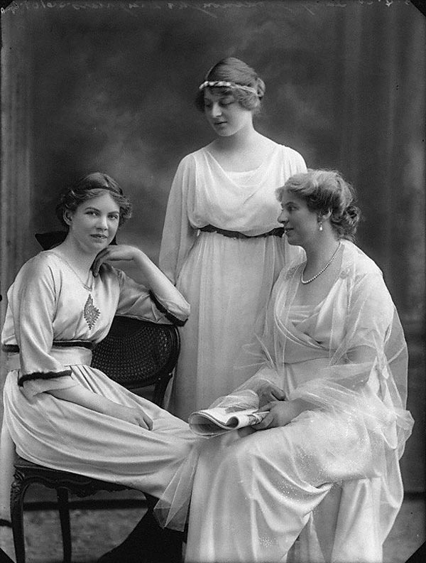 Lady Goodenough with two of her four daughters. Picture from the National Portrait Gallery