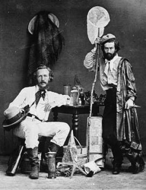 Ernst Haeckel (left) andNicholai Miklukho, one of assistants in his great Canarian adventure in 1866