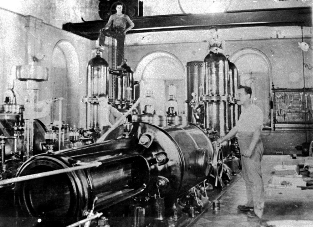 The machinery that ran the La Gordejuela pumping house.